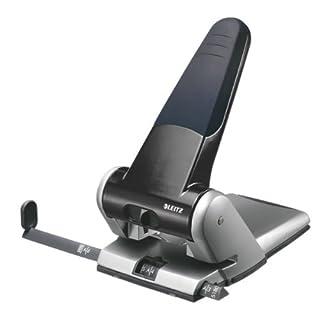 Leitz 5180 Extrastarker Registraturlocher (Langer Hebel Stanzleistung, 65 Blatt) schwarz/grau