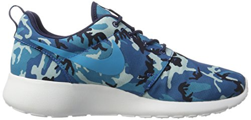 Nike Roshe One Print, chaussures de course homme MID NAVY/BLUE LEGEND-DARK ELECTRIC BLUE-WHITE/CAMO