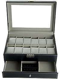 Feibrand PU Armbanduhr Box für Uhren/Armbänder
