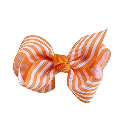 VRTUR Stirnband, Baby Mädchen Bowknot Haarband Kinder Elastisches Blumen Stirnband Haarband Kopfschmuck(Einheitsgröße,Orange)