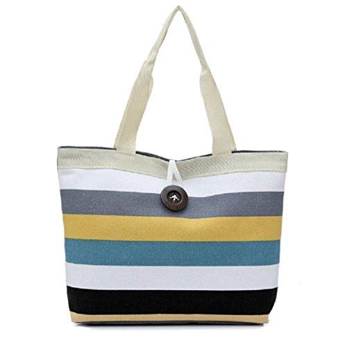 fami-fashion-lady-shopping-stripe-epaule-sac-fourre-tout-kaki