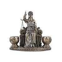 حامل شموع على شكل تمثال سيدة جالس من VERONESE ، مسحوق برونزي مصبوب