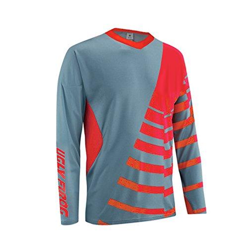 Uglyfrog Element MTB Herren Streifen Design MX Motocross/Downhill Jersey Trikot Shirt Enduro Offroad Motorrad Erwachsene Motorräder Zubehör Kurz/Lang Ärmel