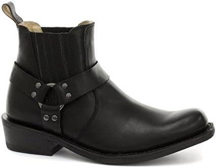 Grinders - Botas de Piel para hombre Negro negro
