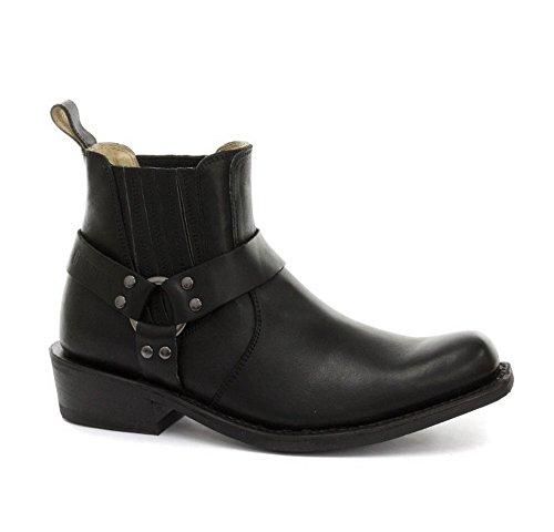 Schleifer New Renegade Schwarz oder Braun Reiten Cowboy Stiefel mit Drei-Wege-Knšchelriemen Design qecrSsJmwe