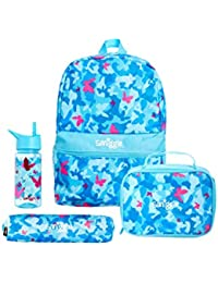 Smiggle Giggle Backpack School Bundle for Boys & Girls containing Backpack, Lunchbox, Water Bottle and Pencil Case