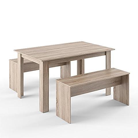 VICCO Tischgruppe Eiche Sonoma 140 x 90 cm - 4