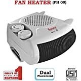 Warmex 1000/2000 Watts Fan Heater FH 09 (White)