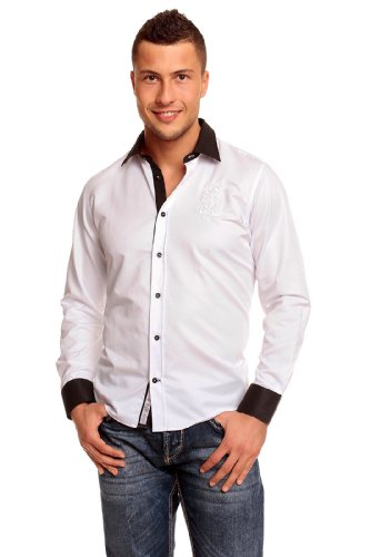 Carisma Herren 8089 Classic Hemd Slim Fit Weiß