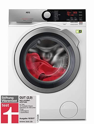 AEG L8FE74485 Waschmaschine / ProSteam - Auffrischfunktion / ÖKOMix - Faserschutz / 8,0 kg / Leise / Mengenautomatik / Nachlegefunktion / Kindersicherung / Schontrommel / Allergikerfreundlich - Frische Wäsche Waschmittel