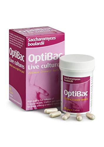 OptiBac Saccharomyces boulardii - 5 Milliarden KBE Veganer & Natürlich - 40 Kapseln