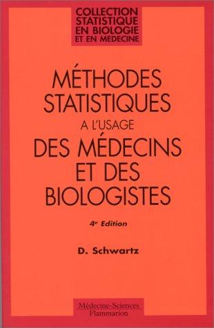 Mthodes statistiques  l'usage des mdecins et des biologistes