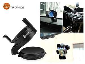 TaoTronics® TT-SH01 Support voiture universel téléphone portable / GPS / PDA / PSP / iPod / iPhone / MP3 / MP4 ventouse pare-brise , largeur de 5,4cm- 8,5cm , 360 degrés de rotation