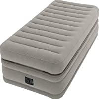 Intex PVC Prime Comfort Single Size Raised Airbed, H42.8 x W49 x D23.4 cm
