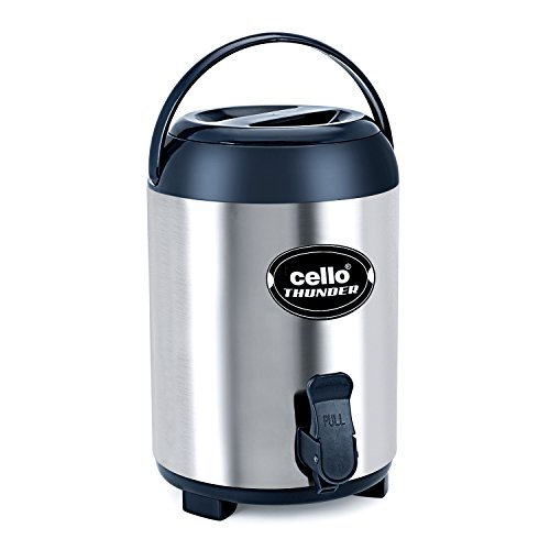 Cello Thunder Insulated Stainless Steel Water Jug, 4 litres, Grey