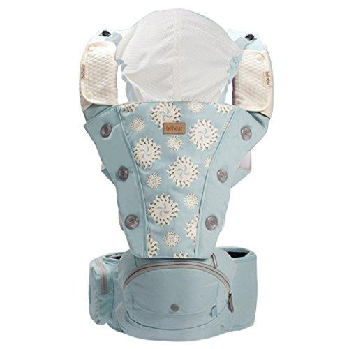 2-in-1-Multifunktions-Babytrage - Babytrage + Baby-Hocker - Geeignet für 0-3 Jahre alt - Geeignet für männliche und weibliche Baby - Gewöhnliche Taille Hocker-Modus (A)/Falten Taille Hocker-Modus (B)