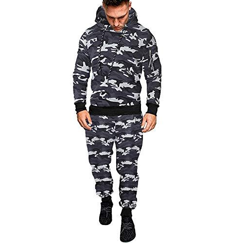 Preisvergleich Produktbild Sannysis Herren Slim Fit Hoodie Männer Herbst Winter Camouflage Sweatshirt + Hosen Sets Sport Anzug Trainingsanzug