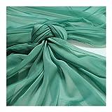 Stoff Polyester Changeant Chiffon türkis transparent sehr