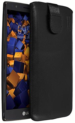 mumbi ECHT Ledertasche für LG G4 Tasche Leder Etui (Lasche mit Rückzugfunktion Ausziehhilfe)