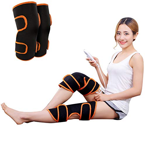 QETY Elektro-Knie-Pads, Moxibustion Fever 9-Speed Adjustable Massage Kissen für Relieve Knie Spraches Cramps Arthritis Schmerzen (Knie-massage-kissen)
