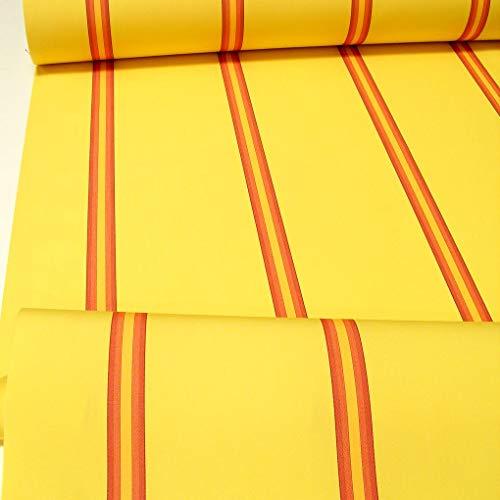 TOLKO Sonnenschutz Markisen-Stoffe als Meterware Zum Nähen mit UV-Schutz 50+ | Wasserdicht, Extra Langlebig - Ohne Ausbleichen (Gelb-Rot)