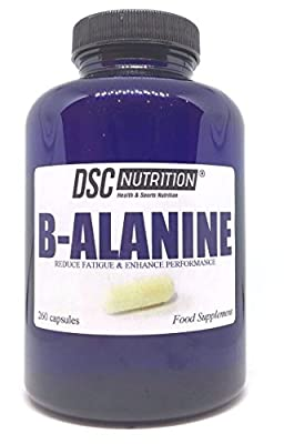 260 x 800mg Pure Beta-Alanine CAPSULES in a BOTTLE - Preworkout - By DSC NUTRITION from DSC NUTRITION