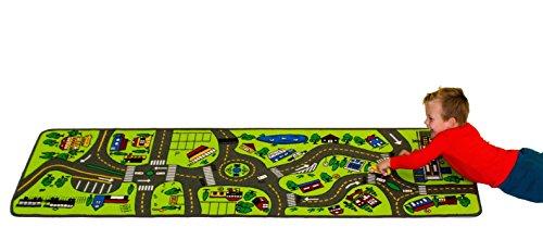 Preisvergleich Produktbild Learning Carpets LC124 Kinderteppich Spielteppich Riesen-Straßenkarte 67x200cm