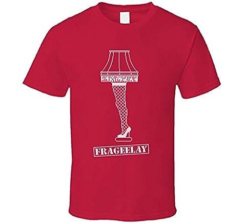 MARCIAPITMAN a Christmas Story Major Award Leg Lamp Classic Movie Ugly T Shirt XX-Large