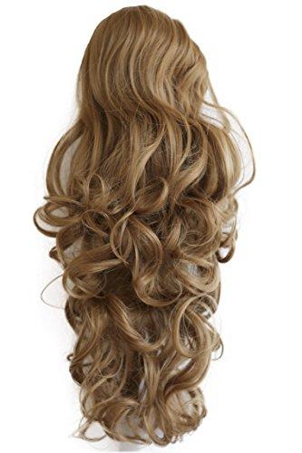 PRETTYSHOP 55cm Haarteil Zopf Pferdeschwanz Haarverdichtung Haarverlängerung VOLUMINÖS 55cm dunkelblond#28 PH24