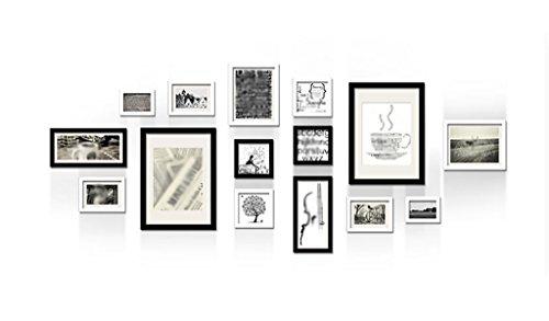 ASL Massivholz-Foto-Wand-Schwarzweiss-Wohnzimmer-Foto-Wand-einfaches modernes kreatives klassisches Schlafzimmer-Unternehmens-Foto-Wand-Kombination Foto-Wand Großes Foto-Wand Qualität ( Farbe : A )