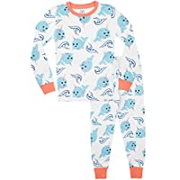 Harry Bear Girls Pyjamas Narwhal Unicorn of The Sea Snuggle Fit White Age 7 to 8 Years