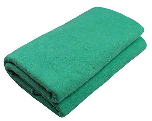 Couverture de yoga »Sudore« La couverture pour le hot-yoga, comme tapis pour les exercices de yoga puis pour se relaxer, 183 x 61 cm, vert
