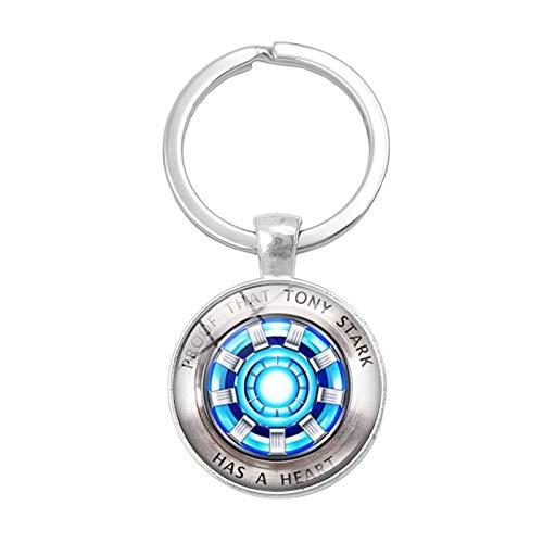 Llavero cristal forma cúpula Iron Man, diseño arco