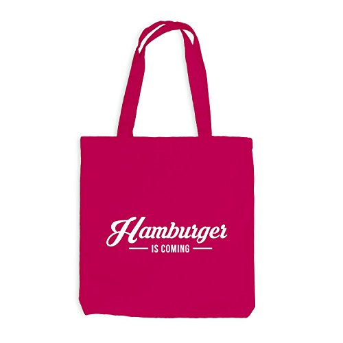 Jutebeutel - Hamburger is coming - Hamburg HH Style Pink