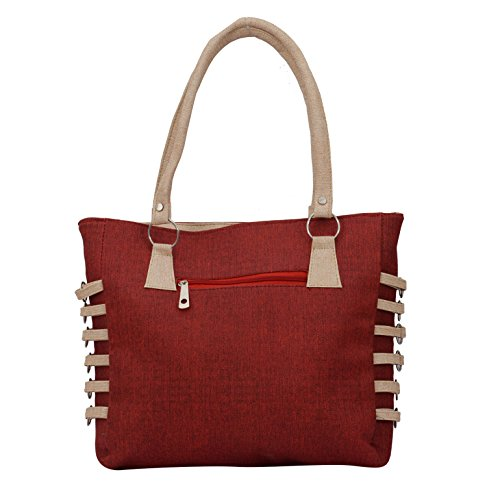 Alice Designer khadi style ladies handbag maroon(NKS-508-GUN)  available at amazon for Rs.399