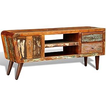 VidaXL Antik TV Hifi Rack Lowboard Sideboard Fernsehtisch Vintage Holz Teak  Retro 2
