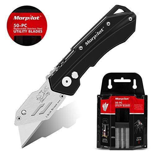Cúter morpilot, cuchillo pregable 50 PCS Hojas Afiladas