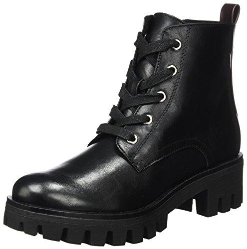 Tamaris Damen 25252 Combat Boots, Schwarz (Black/Bordeaux), 40 EU