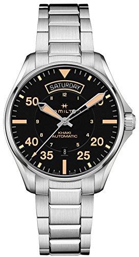 Hamilton Khaki Pilot Auto Day Date h64645131automático para hombre reloj