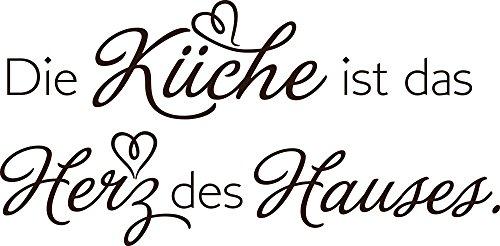 GRAZDesign Wandtattoo für Küche - Besonderes Geschenk Beste Freundin Wandtattoo Küchenspruch - Küchensprüche für die Wand Wandzitat / 116x57cm / 080 braun - 116 Wand