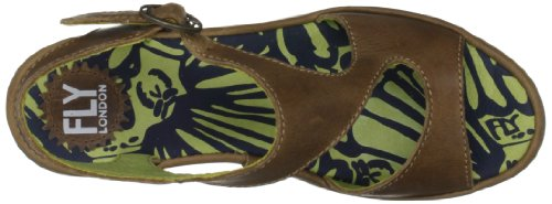 Fly London Bianca, Damen Fashion-Sandalen Braun (Camel)