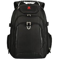 """Soarpop WB4392 Scansmart Mochila para ordenador portátil de hasta 17,3"""" pulgadas, negro"""