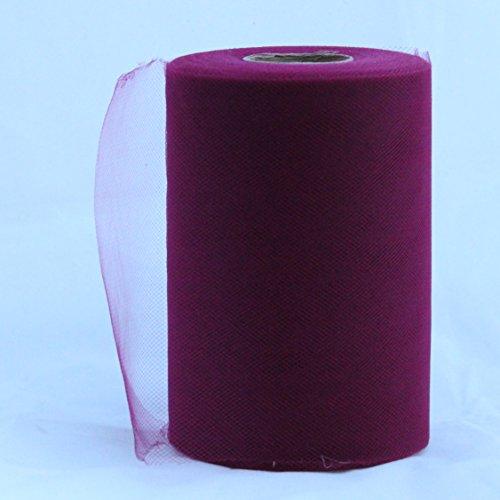 Wein Tüll Rolle-15,2cm X 100Yard-Tüll für die Dekoration und Tutu Kleider
