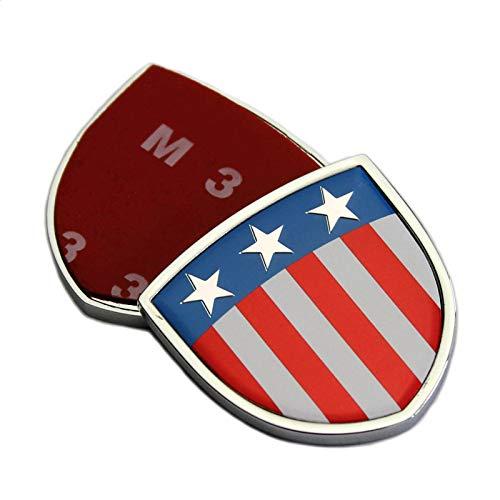 2 Stück Metall Amerikanische Flagge Auto Körperseite Schild Emblem Abzeichen Aufkleber Badge Für Ford Chevrolet Cadillac