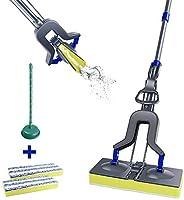 Sponge Mop with Super Absorption Sponge Head and Stainless Steel Handle,Household Sponge Floor Mop Masthome