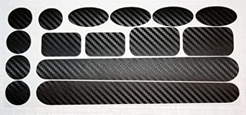 Carbon Fibre Chainstay & Frame protector set for Bicycle Bike Cycle MTB BMX. Made by Ellis Graphix