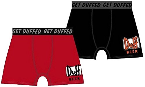 Unbekannt Boxer Duff Beer Rot The Simpsons rot Gr. S, Mehrfarbig - Mehrfarbig
