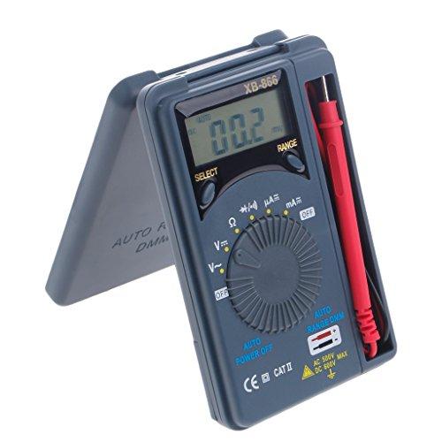 Pocket Digital Multimeter, Mini-Digital-Ohmmeter XB866 Manuelle und automatische Bereichswahl, Voltmeter Tester mit LCD, AC/DC-Spannungstransistor