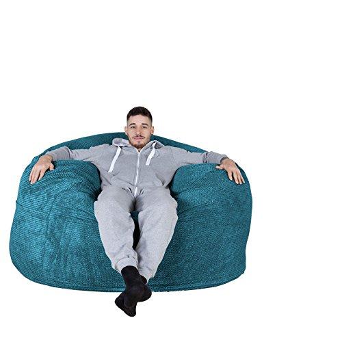 Lounge Pug®, Canapé Pouf Géant C1000-L, CloudSac Memoire De Forme, Gros Pouf Sofa, Pompon Mer Égéé