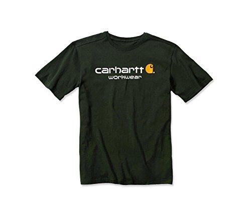 Carhartt Core T-Shirt für Herren, Arbeitshemd, kurzärmlig Gr. L, Duffle Bag Green (Carhartt Arbeit Kurze Herren)